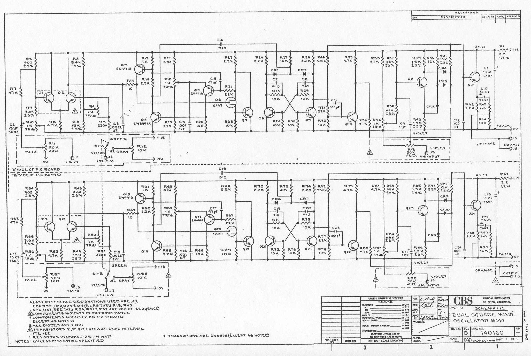 Square Wave Oscillator Circuit